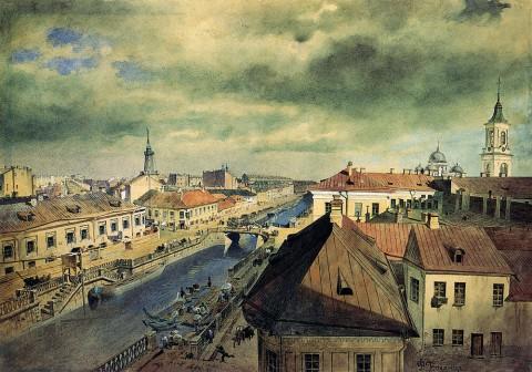 Баганц Ф. Ф., Петербург. Екатерининский канал. Начало 1860-х годов.