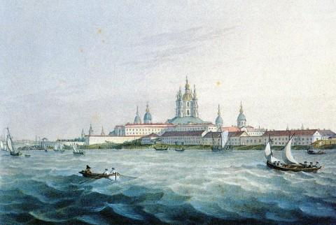 Беггров К. П., Вид на Смольный монастырь. Вторая половина 1820-х - 1830-е годы.
