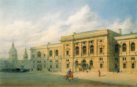 Бенуа Л. Н., Санкт-Петербургское Центральное училище технического рисования барона А. Л. Штиглица. 1880 год.