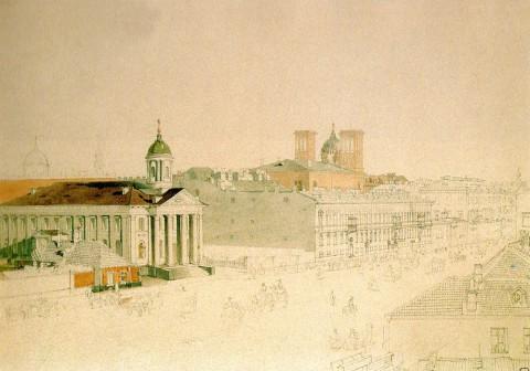 Садовников В. С., Вид Большой Конюшенной улицы. Конец 1830-х - начало 1840-х годов.