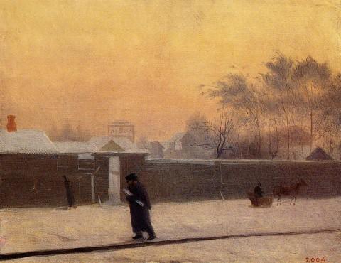 Федотов П. А., Зимний день. 20 линия Васильевского острова. 1850-1851 годы.