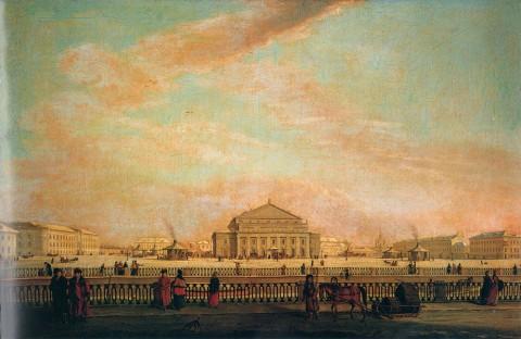 Майр И. Г., Большой театр в Петербурге. Между 1796 и 1802 годами.