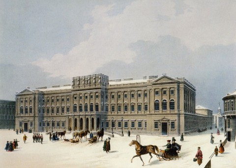 Арну Ж. Б., Мариинский дворец (дворец герцога Лейхтенбергского). 1840-е годы.