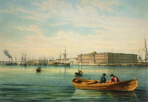 Перро Ф. В., Вид на Академию Художеств. После 1841 года.