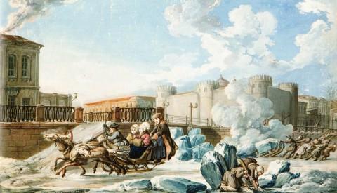Кнаппе К. Ф., Мойка у Тюремного замка. 1798 год.