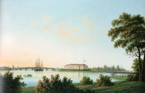 Барт И. В., Вид Каменноостровского дворца с Выборгской стороны. После 1813 года.