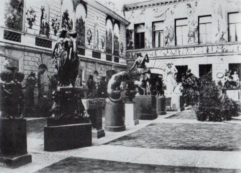 Бианки И. К., Двор в доме Монферрана на Мойке. 1853.