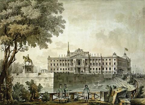 Кваренги Дж., Вид Михайловского замка. 1801 год.