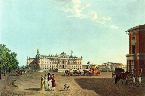 Лори М. Г., Вид Михайловского замка с площади Коннетабль. 1804 год.
