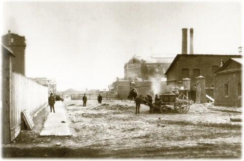 Булла К. К., Кожевенная линия. Территория Балтийского судостроительного завода. Около 1914 года.