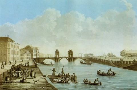 Дамам-Демартре М. Ф., Набережная Фонтанки. 1810-е годы.