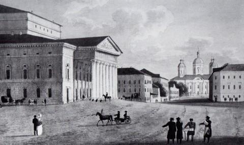 Мартынов А. Е., Большой (Каменный) театр. Около 1820 года.