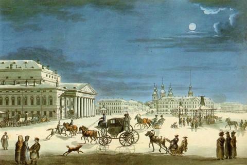 Неизвестный художник, Большой (Каменный) театр. 1810-е годы.