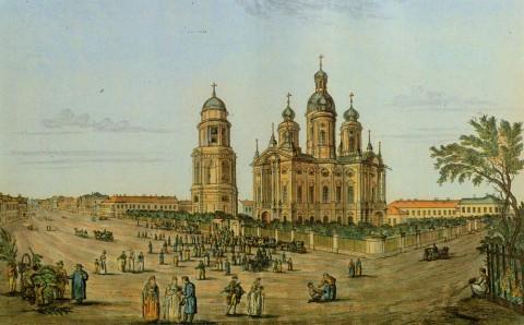Иванов И. А., Вид церкви Владимирской богоматери. 1815 год.