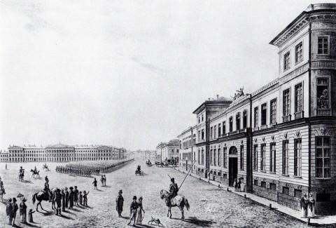 Галактионов С. Ф., Вид Царицына луга от Летнего сада. 1821 год.