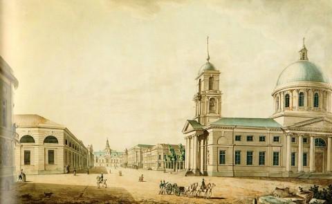 Кутепов А., Вид Литейного проспекта от Сергиевского собора к Литейному двору. 1806 год.