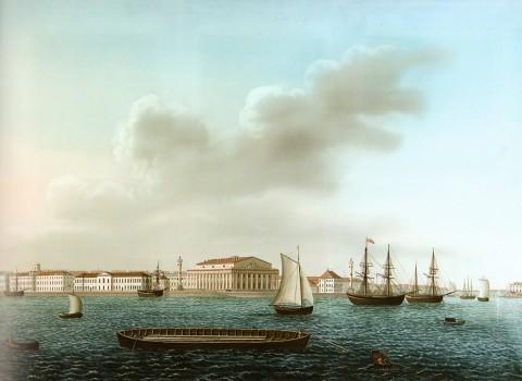 Барт И. В., Стрелка Васильевского острова. 1810-е годы.