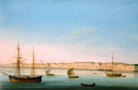 Барт И. В., Английская набережная. 1810-е годы.