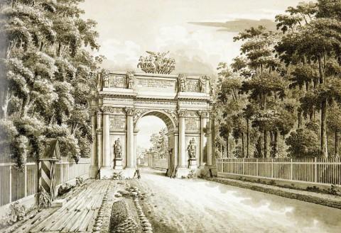 Сабат К. Ф., Старые Нарвские триумфальные ворота. 1824 год.