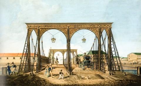 Хлебников М., Пантелеймоновский мост через Фонтанку. 1827 год.
