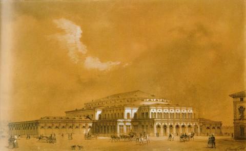 Премацци Л. О., Театр-цирк на Театральной площади. 1848 год.
