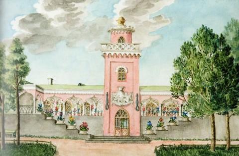 Вид Фермы в Екатерингофе. 1847 год.