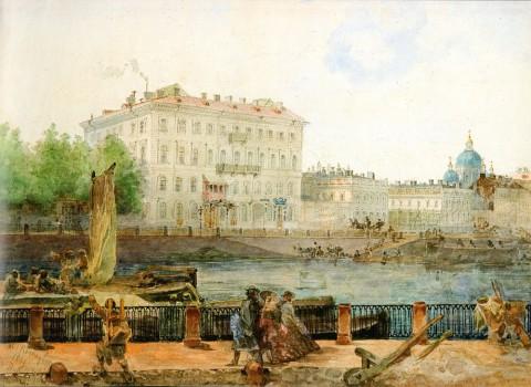 Садовников В. С., Дом Тарасовой на Фонтанке. 1861 год.