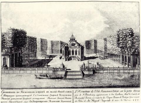 Махаев М. И., Эрмитаж на Каменном острове. 1753 год.