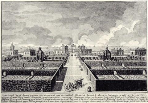 Махаев М. И., Проспект сада с северной стороны при загородном доме на Каменном острове. 1755 год.