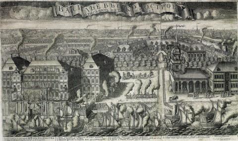 Зубов А. Ф., Ввод судов в Петербург после Гангутской победы (Васильевский остров). 1714 год.