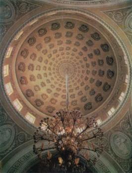Свод куполного зала в Таврическом дворце.