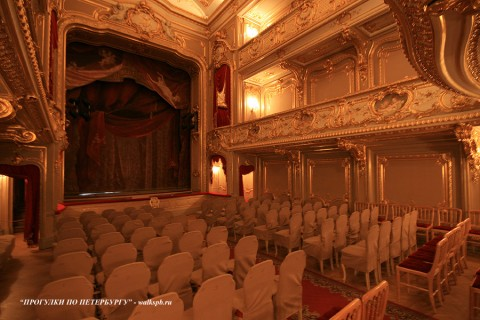Театральный зал в Юсуповском дворце. 2009.04.15.