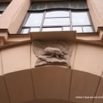 Фрагмент фасада здания гимназии К. и. Мая