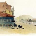 Бассейная улица, Питейный дом напротив дома Доссе