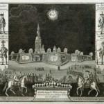 Иллюминация Петропавловской крепости в январе 1735 года