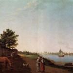 Вид на Александро-Невский монастырь со стороны Охты