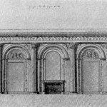 Проект Овальной столовой в Зимнем дворце