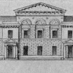 Проект здания литейной мастерской при Академии художеств. Фасад