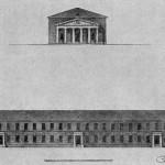 Проект гауптвахты, казарм и арестантских при Морском госпитале на Выборгской стороне. Фасады