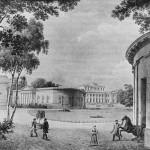 Вид на Елагин дворец со стороны Масляного луга