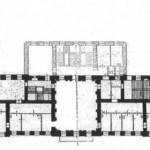 План второго этажа передней части особняка кн. Н. П. Голицыной - дома военного министра