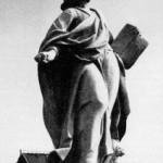 Мраморная скульптура апостола Иоанна