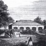 Футляр над домиком Петра I