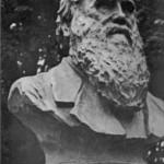 Бюст Дарвина на территории Ленинградского филиала ВИЭМ