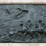 Барельеф на памятнике Петру I «Полтавская баталия»