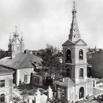 Вид сверху на собор прп. Сампсония Странноприимца и колокольню