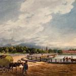 Вид на Строгановский мост и церковь Иоанна Предтечи