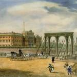 Вид на Пантелеймоновский цепной мост у Летнего сада