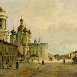 Вид на церковь Владимирской Божией Матери со стороны Владимирской улицы