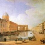 Екатерининский канал. Вид на Казанский собор и Казанский мост